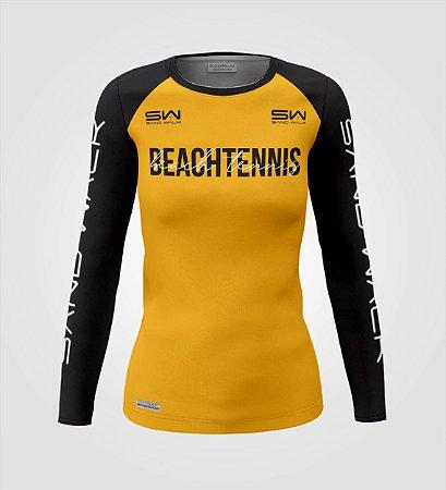 Camisa Manga Longa   Feminina   Beach Tennis   Colors   Mostarda