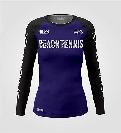 Camisa Manga Longa | Feminina | Beach Tennis | Colors | Marinho