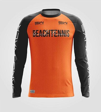 Camisa Manga Longa   Masculina   Beach Tennis   Colors   Laranja