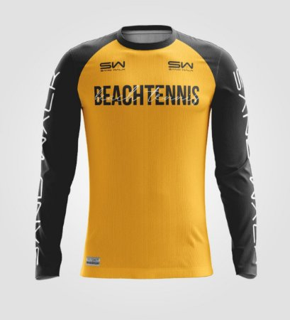 Camisa Manga Longa | Masculina | Beach Tennis | Colors | Mostarda
