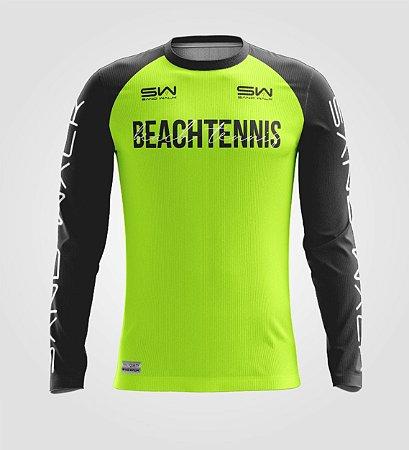 Camisa Manga Longa   Masculina   Beach Tennis   Colors   Flúor