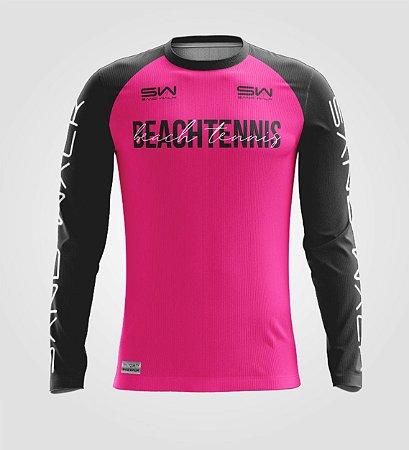 Camisa Manga Longa   Masculina   Beach Tennis   Colors   Pink