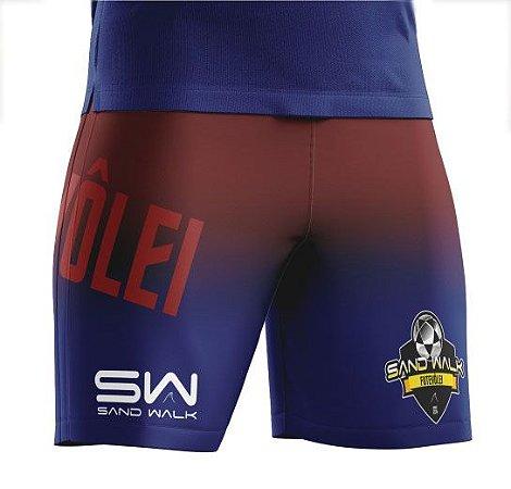 Shorts Masculino | Modelo Treino | Vermelho e azul