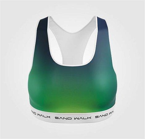 Top Treino | Feminino | Verde e Azul