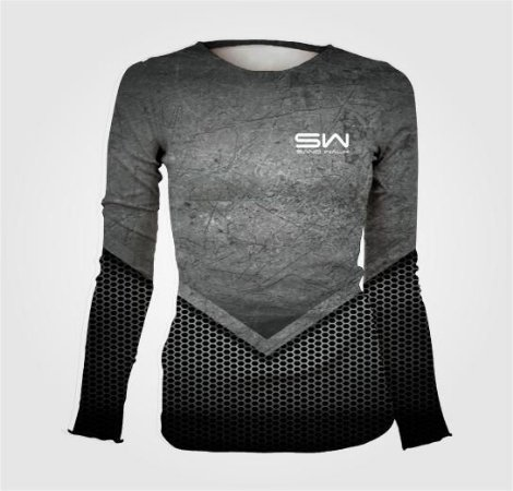 Camisa Térmica Feminina | Manga Longa | Chumbo