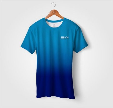 Camiseta Beach Tennis | Manga Curta | Azul