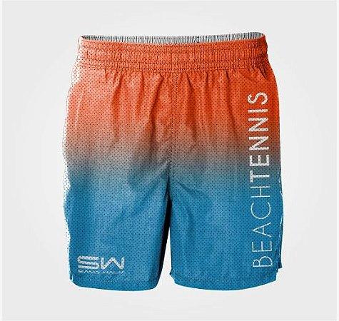 Shorts Masculino | Beach Tennis | Laranja e Azul