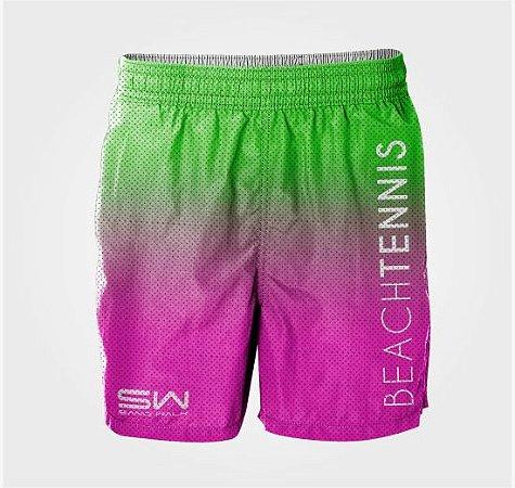 Bermuda Masculina | Beach Tennis | Verde e Rosa