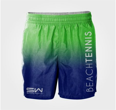 Shorts Masculino | Beach Tennis | Verde e Azul