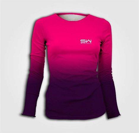 Camisa Térmica Feminina | Manga Longa | Beach Tennis | Pink
