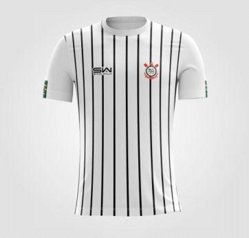 Camiseta Masculina | Coleção Manto | Listrada Preta e Branca