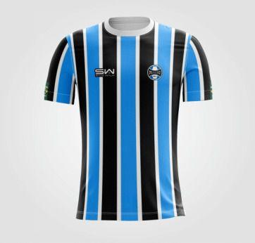 Camiseta Masculina | Coleção Manto | Preta e Azul