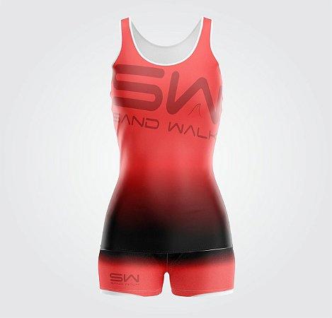 Conjunto Regata e Shorts | Feminino |Coleção #todosjuntos | Vermelho e Preto