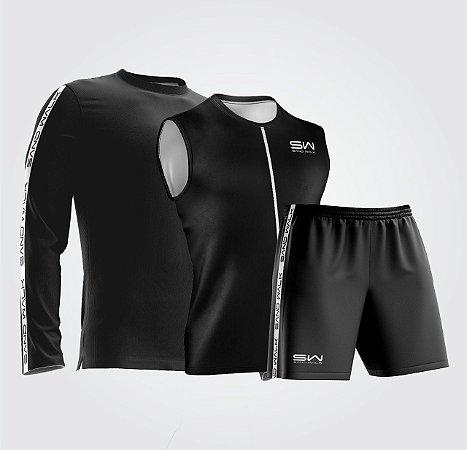 Kit Especial | Regata, Manga Longa e Shorts | All Black
