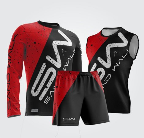 Kit Masculino | Regata, manga longa e shorts | New Age Red
