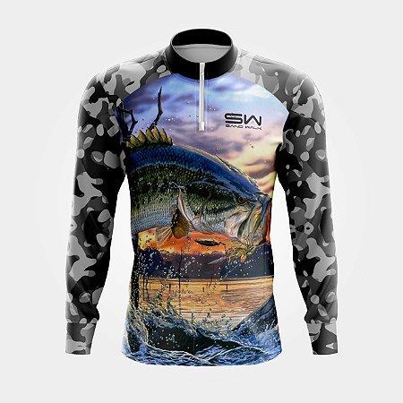 Camisa Térmica Masculina | Manga Longa | Fishing Camuflada