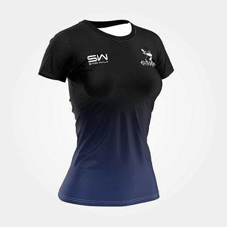 Camiseta Feminina | Térmica | Preta | Coleção Kath Guedes SW