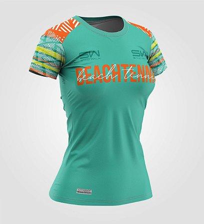 Camiseta Feminina | Beach Tennis | Coleção Voleio