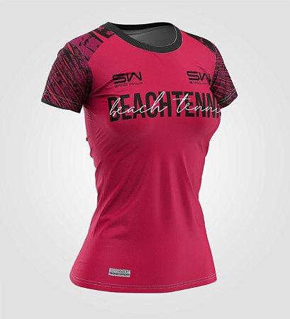 Camiseta Feminina   Beach Tennis   Coleção Revés