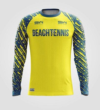 Camisa Térmica Masculina   Manga Longa   Beach Tennis   Coleção Drop Shot