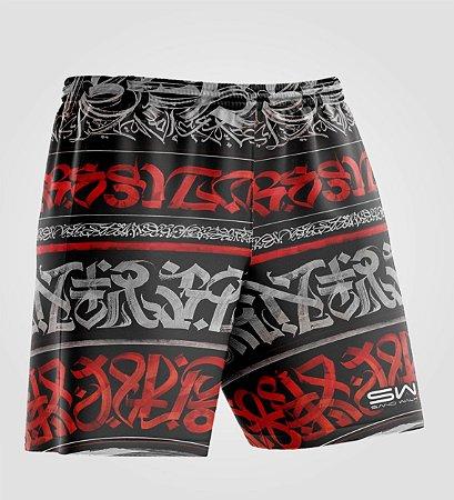 Shorts Masculino | Modelo Treino | Graffiti Vermelho