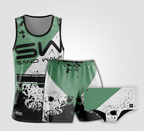 Kit de Aniversário Sand Walk | Masculino | Regata, shorts e sunga | Attack Green