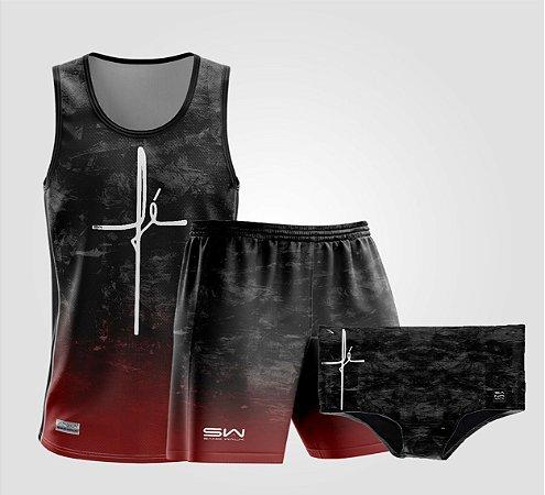 Kit de Aniversário Sand Walk | Masculino | Regata, shorts e sunga | Fé