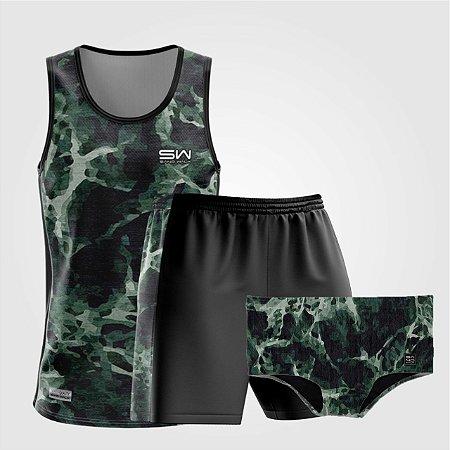 Kit de Aniversário Sand Walk   Masculino   Regata, shorts e sunga   Militar