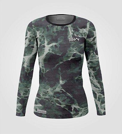 Camisa Térmica Feminina | Manga Longa | Militar