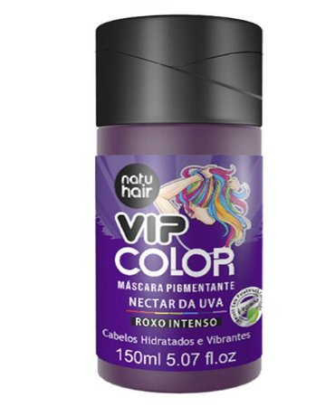 Máscara Pigmentante Vip Color Néctar de Uva (Roxo Intenso) Natuhair 150ml