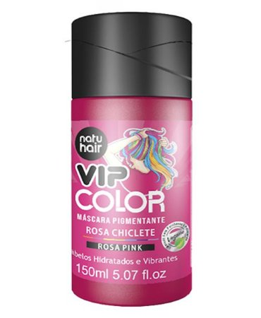 Máscara Pigmentante Vip Color Rosa Chiclete (Rosa Pink) Natuhair 150ml