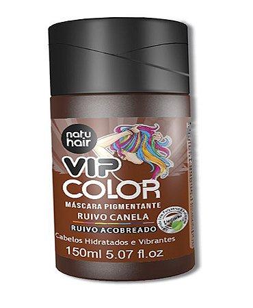 Máscara Pigmentante Vip Color Ruivo Canela (Ruivo Acobreado) Natuhair 150ml