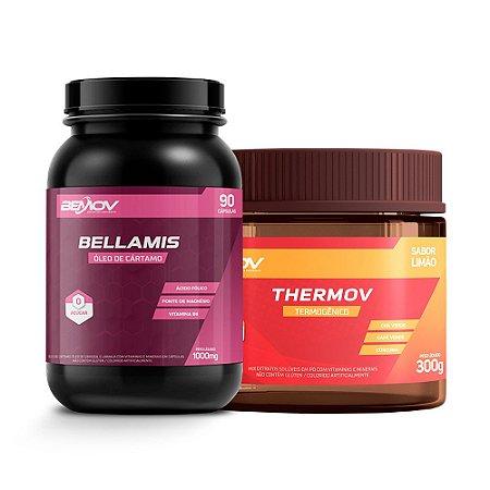 Kit com 1 Bellamis 1000mg 90 Cápsulas + 1 Thermov 300g Sabor Limão