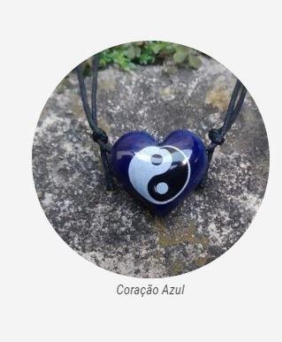 Aromatizador Pessoal - Coração Azul - Símbolo Yin Yang