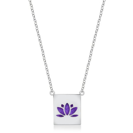 Colar Difusor Pessoal - Flor de Lotus - Ródio Branco
