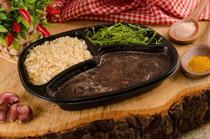 Feijoada Light, couve e arroz integral  385g