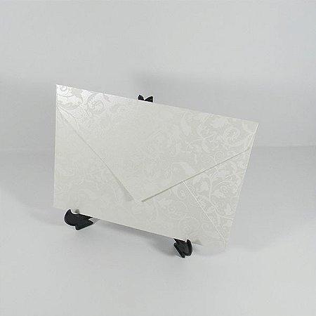 Envelope Perola com estampa branca 01 Mod.EN3100 - 15x21,5cm