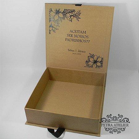 Caixa Padrinhos rústica com manual