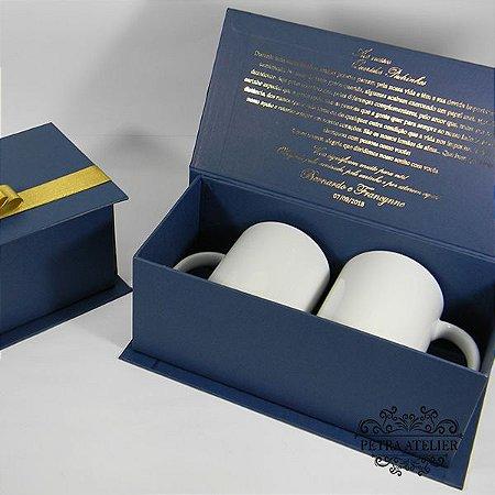 Caixa personalizada para 2 canecas - tam:25x10,5x9,5cm