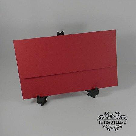 Envelope vermelho escuro carteira Mod.EN4200 - 14,5x24cm