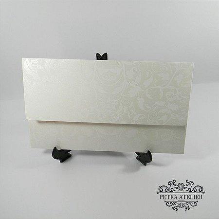 Envelope Pérola com estampa floral 01 Mod.EN4200 - 14,5x24cm