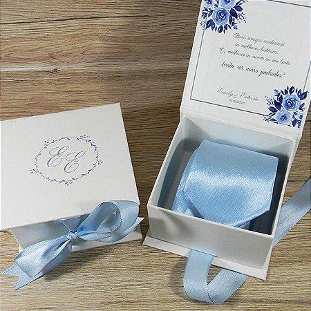 Convite de Padrinhos - caixa com gravata
