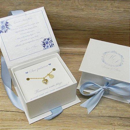 Convite Madrinha - caixa com pulseira