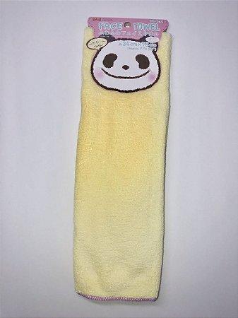 Daiso Face Towel - cor: amarela