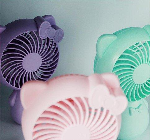 Mini Ventilador De Mão Portátil Hello Kitty Mint