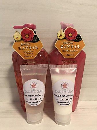Tsubaki Oil Extra Moisture Balance Care Set Kit Shampoo e Condicionador Fracionado 60ml (cada)