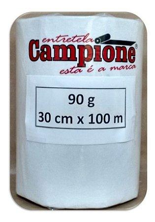 Entretela Para Bordado Gramatura 90g Campione Grossa 30cm x 100m Rasga Fácil