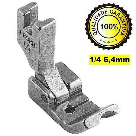Calcador Pregar Cordão Vivo Direito 1/4 6,4mm Reta Industrial