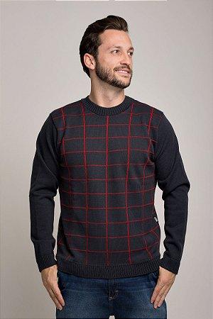 Blusão Tricot Quadriculado