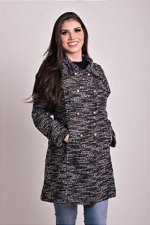 Casaco Longo Tweed